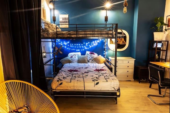 Canapé lit luxueux de la maison du convertible avec matelat confortable