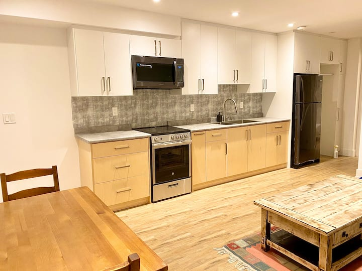 Newly built one bedroom basement apartment