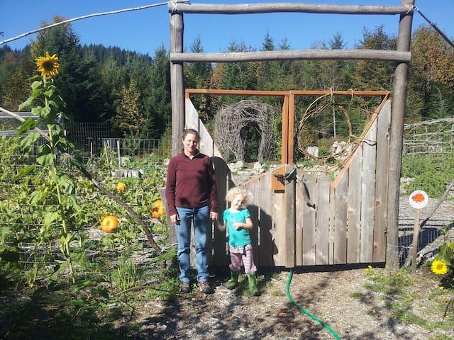 1 1/2 acre organic garden