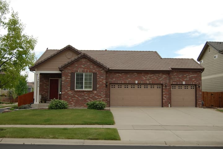 Quiet Parker Home is a Ranch Style with yard!