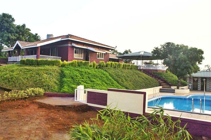 SUNLIT FARM (Bungalow - For Families & Big Groups)