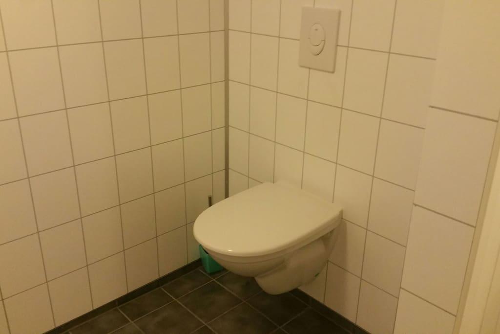 Toalettet på badet