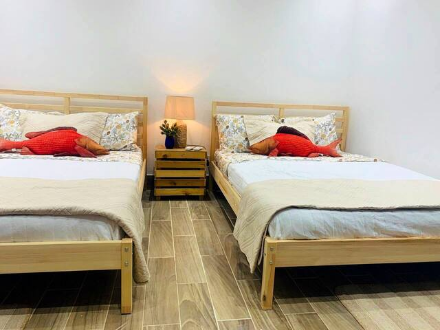 Second bedroom (2 double beds)