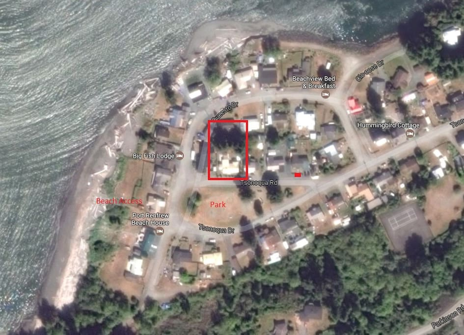 Location in Beach Camp - across street from beach access