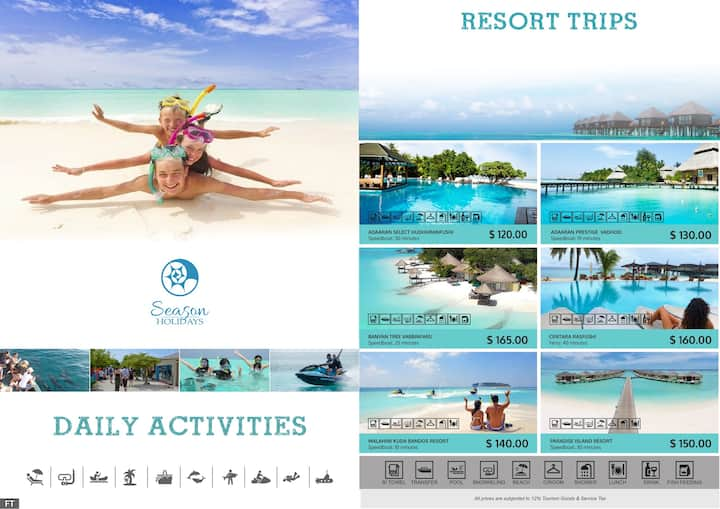 Beachfront Stay & Excursions