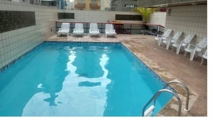 O melhor de Praia Grande, V Tupi, piscina  e ar.