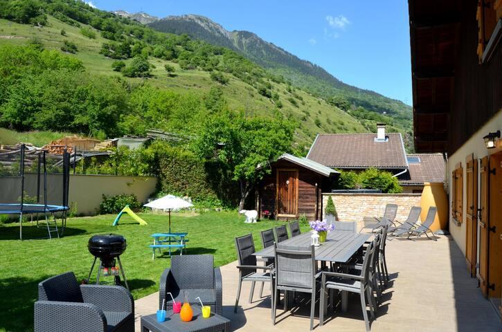 4* Chalet near La Plagne |Garden,Sauna,Pool table