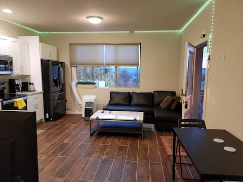 Private Newer Suite with  Laundry and Full kitchen