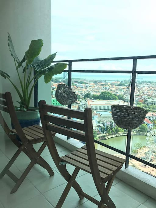 Balcony Overseeing Malacca River, Straits of Malacca & The Historical City