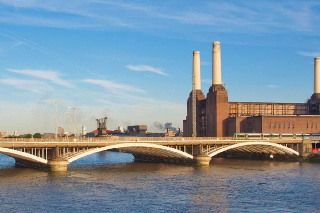 Nearby Battersea Power Station
