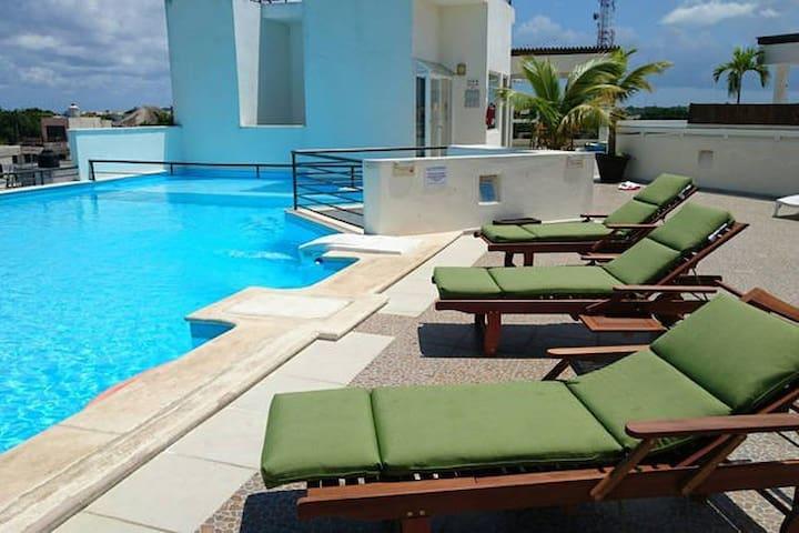 Luxury Apartment 3 blocks from 5th Av beach & bars - Playa del Carmen - Pousada