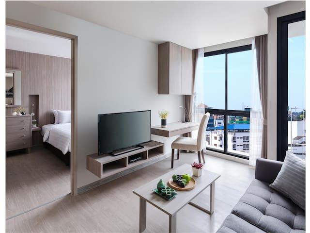 One bedroom & balcony (46 sqm) at Madera Residence