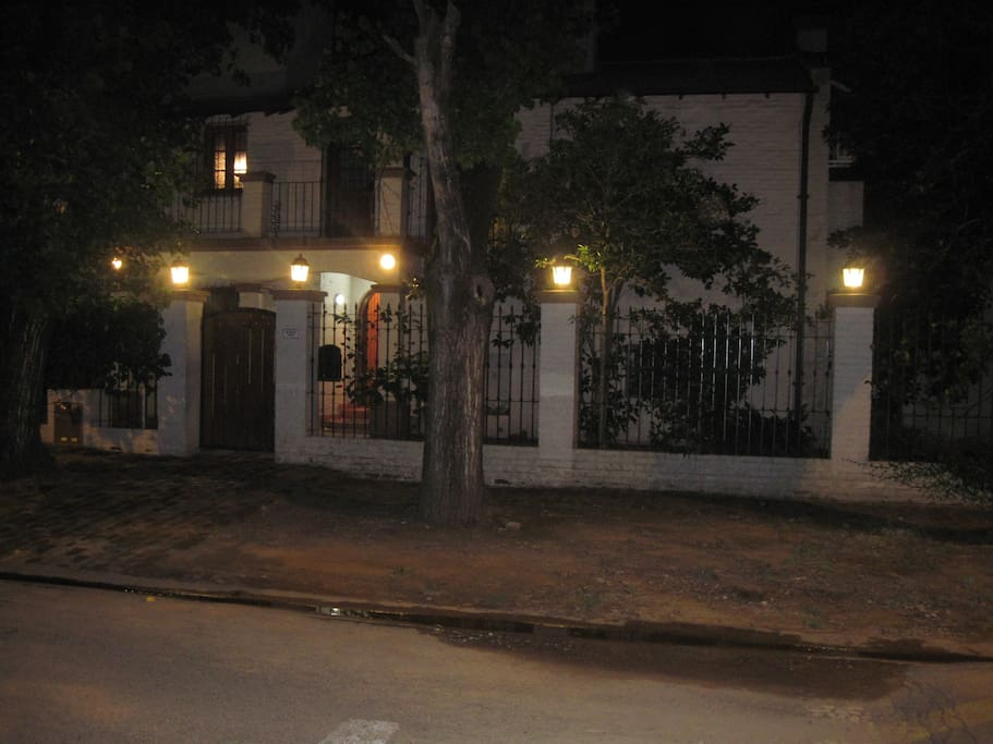 Night time in this beautiful gem on a quiet street in San Isidro