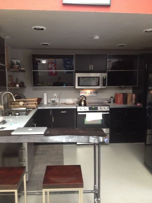 Huge modern kitchen with all amenities.