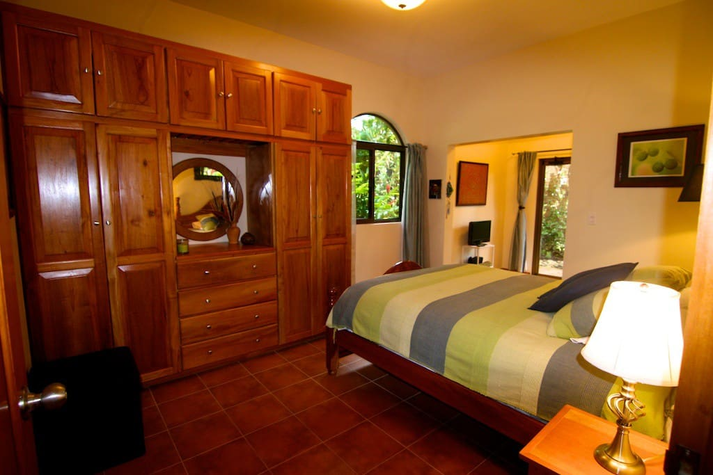 The Garden Suite has hand crafted wood closets, luxury linens and is beautifully appointed.