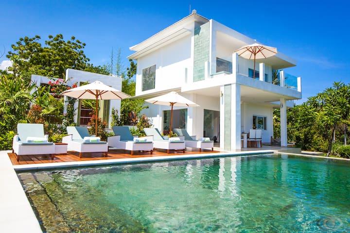 Luxury modern villa with Bali sea view