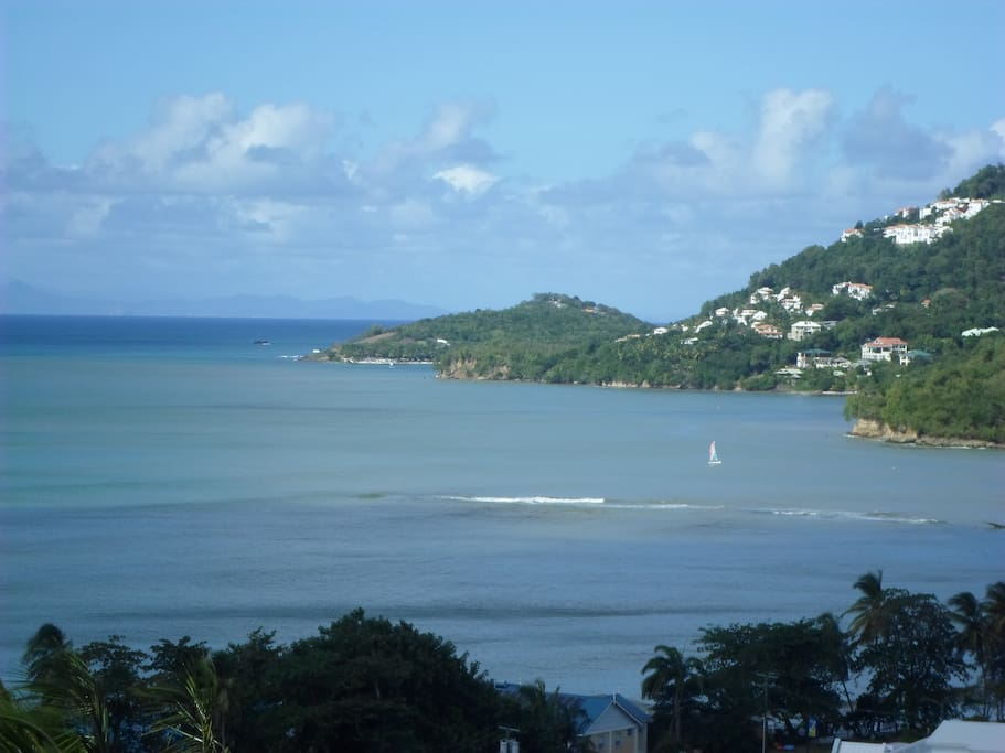 Martinique in the distance