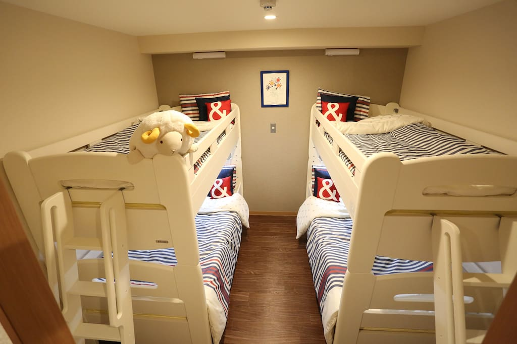 We're providing Big size Bunk beds in the rooms