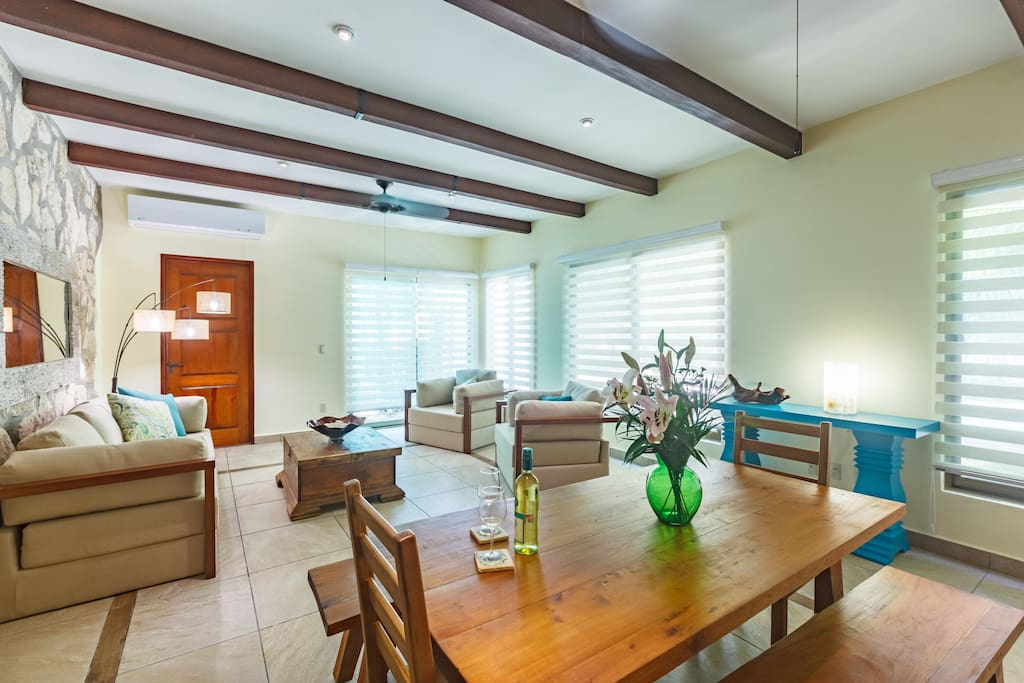 Living Room + Dinig Room