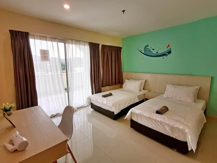 Marina Island Twin bed Homestay @Lumut 1#Goopro