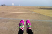 5 Km long promenade and see line to enjoy sports...Jogging, cycling, rolling, horse riding, swimming, Kite surfing, sailing...
