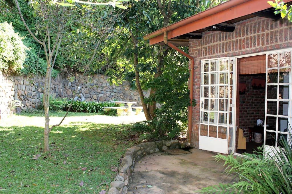 Secretary Bird private garden