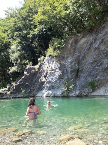 Trebbia, the green river - Ottone - Flat