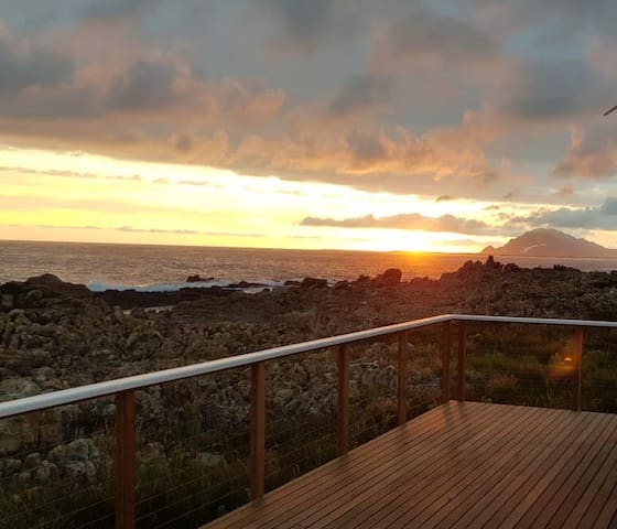 Best views in Betty's Bay! Right on the rocks.