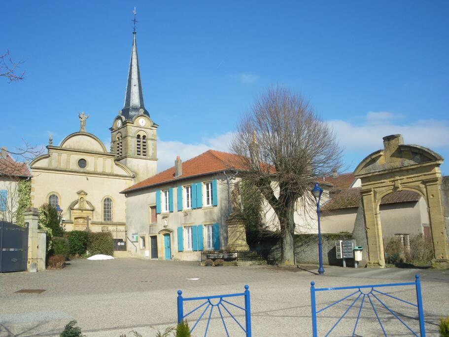 Le centre historique de Courcelles sur Nied