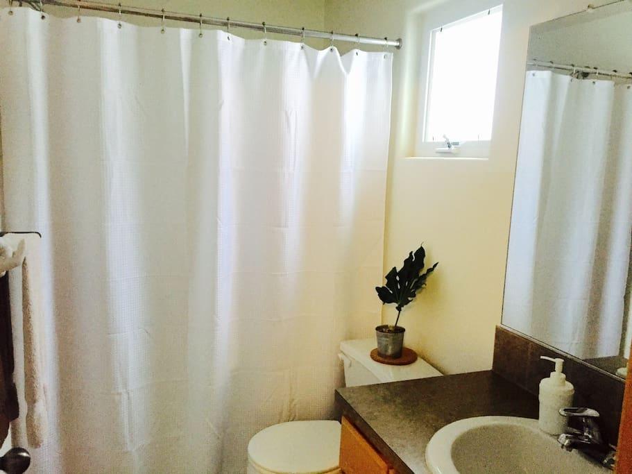 Convenient attached full-bathroom.