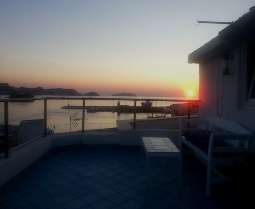 terrazzo all'alba
