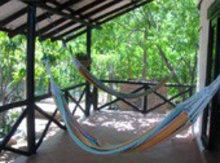 Hammock relax area