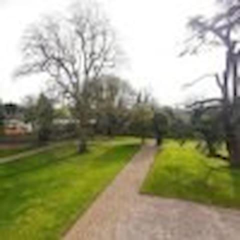 Large communal garden