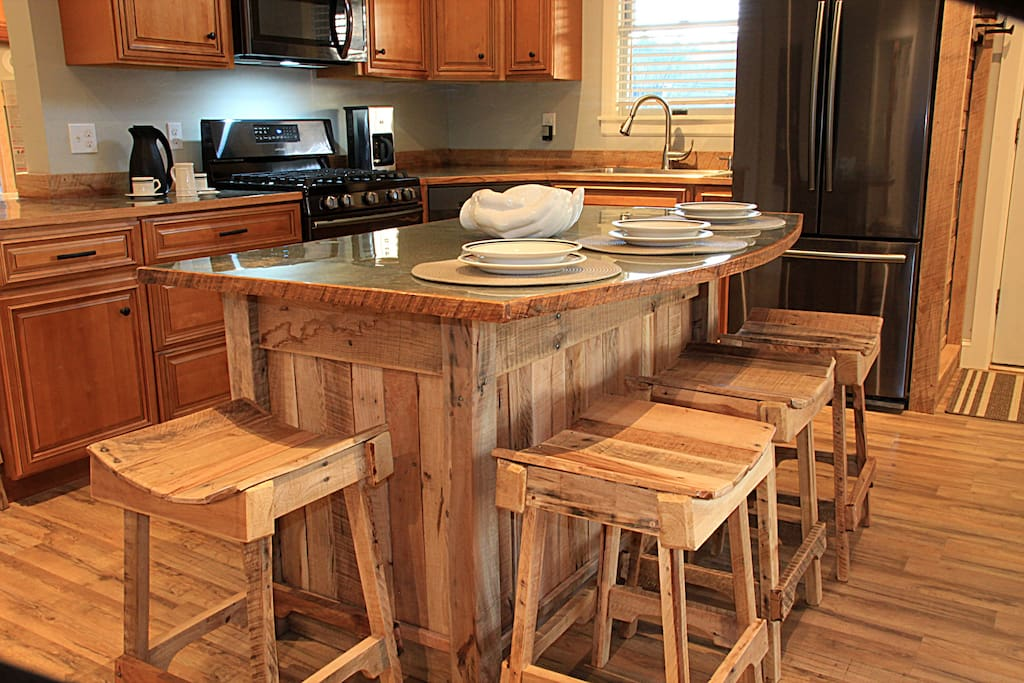 Hand crafted bar stools and accents