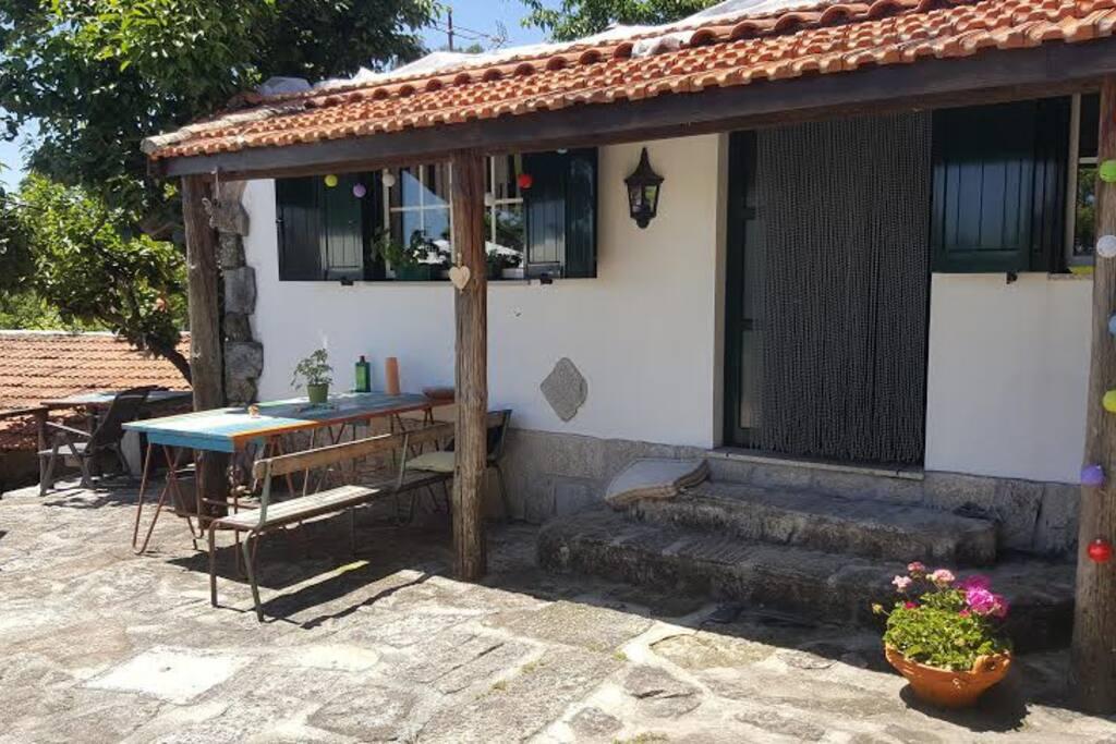 The entrance of our B&B Casa Lagarto