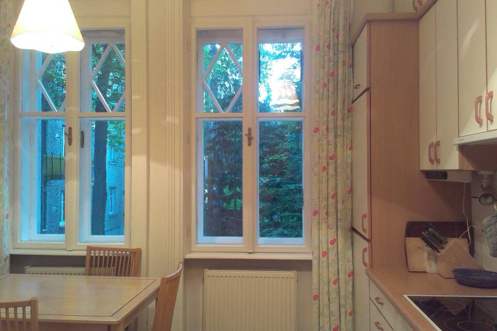 big kitchen with table