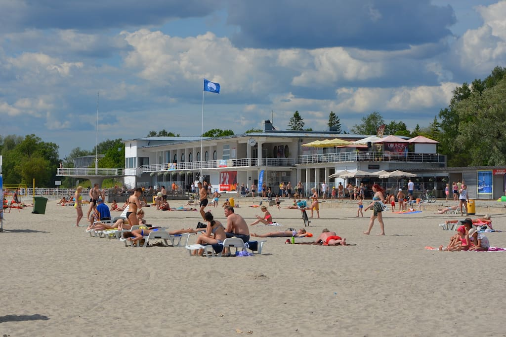 Central Pärnu Beach 250m.