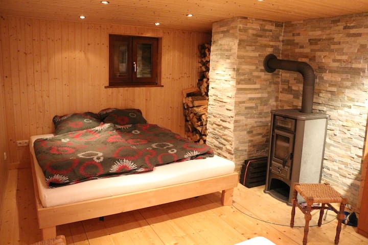doublebed in own room, very old timberhouse (1750)