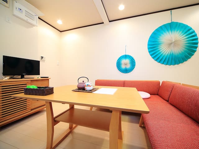 10 min Kaminarimon. Renovated Japanese House! wifi