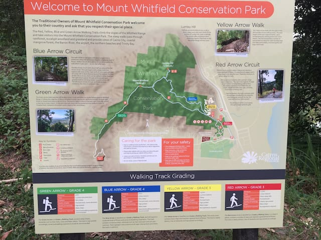 Easy access to bushwalking  trails and Mount Whitfield Conservation Park