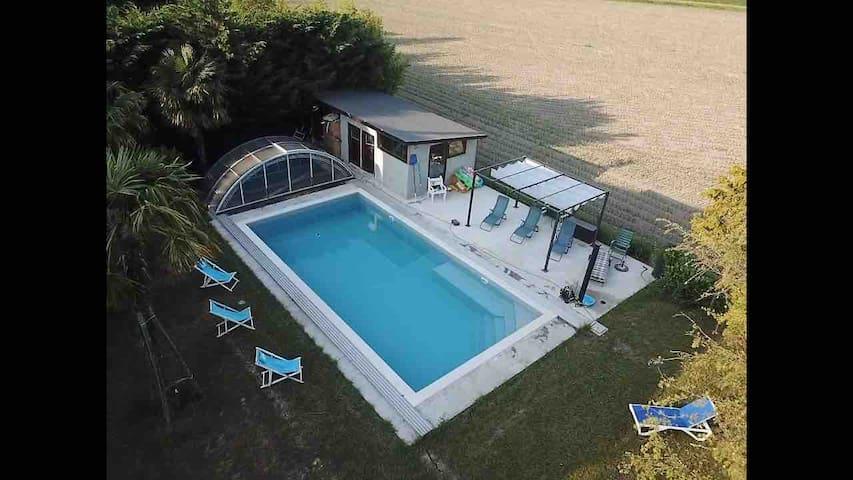 Urlaubstage bei Bibione -beheiztes Pool-7 Pers max