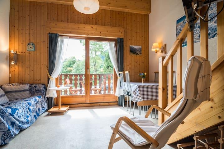 Appartement met 2 slaapkamers & garage in Chatel - Châtel - Leilighet