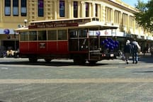 A 10 minute walk into Fremantle where you can take a Tram tour