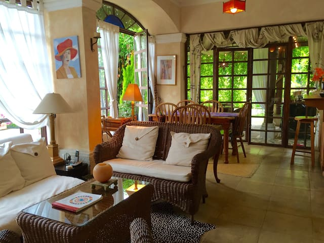 Cozy apart with beautiful garden. - Antigua Guatemala - Apartamento