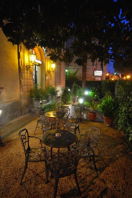 Il Giardino di notte, area relax