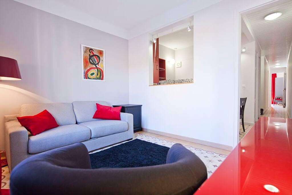 Living room with double sofa bed (sleeps 2)