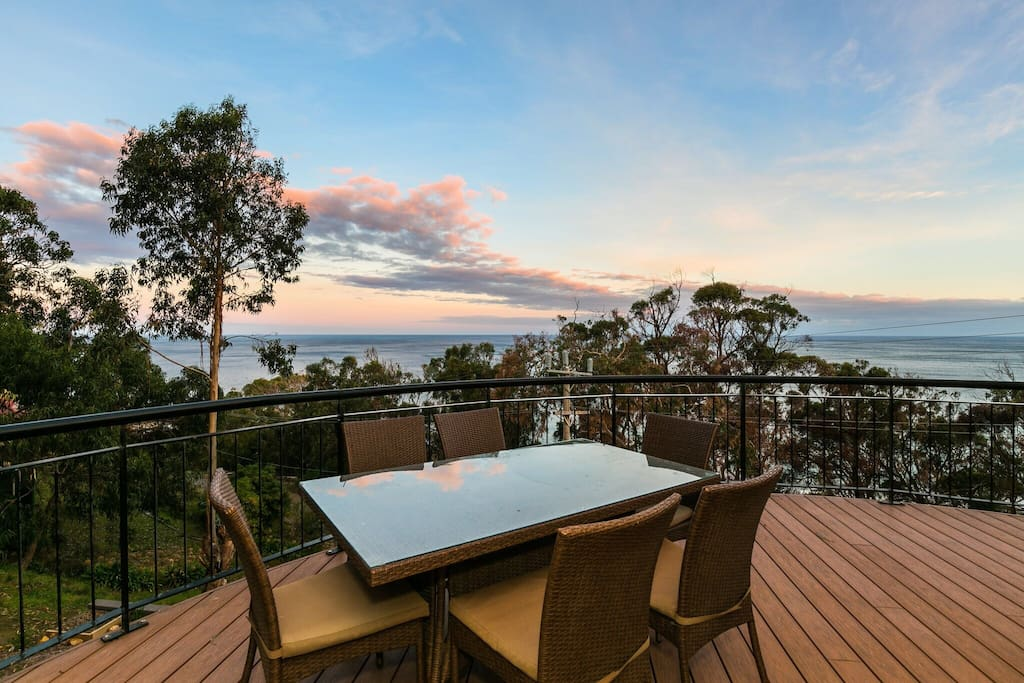 Enjoy a BBQ on the deck with scenic views