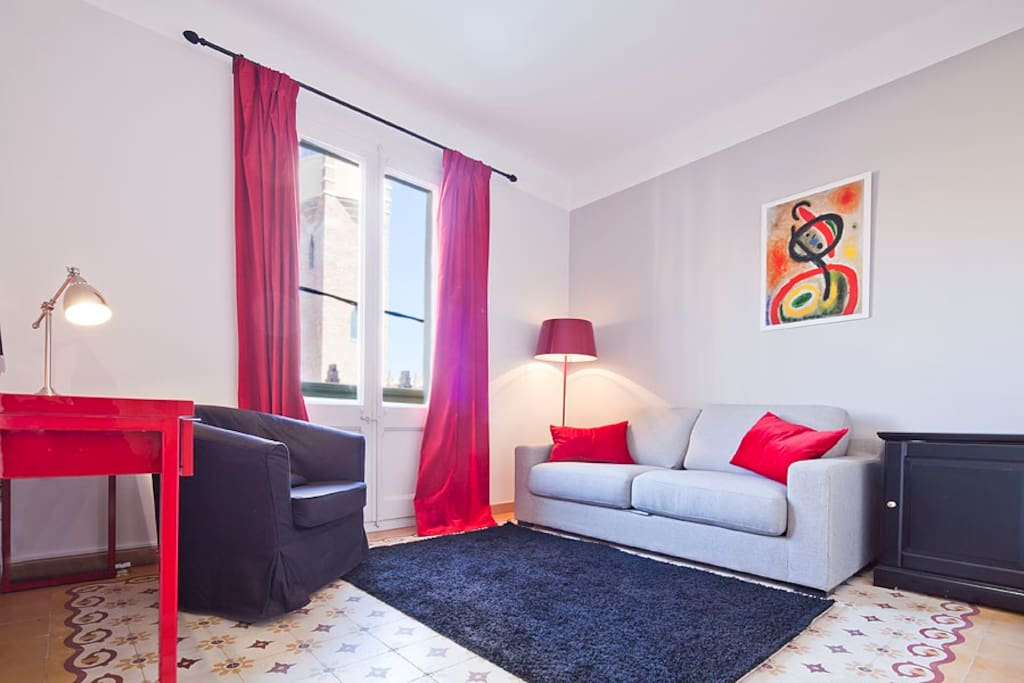 Quiet 2 br and 2 bathrooms sleeps 5 appartamenti in for Hotel e appartamenti barcellona