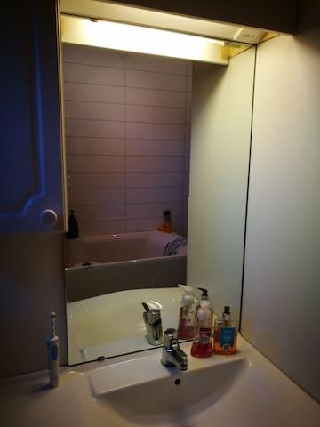 Inside bathroom