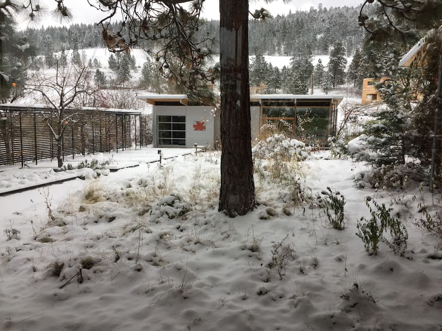 Centre courtyard with fresh snow